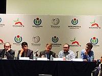 Wikimanía 2015 - Day 2 - Press Conference - LMM - México D.F. (9).jpg