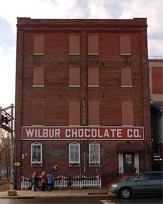 Wilbur Chocolate Company - Image: Wilbur Chocolate Co Front 1694px