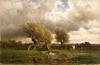 Vaches sous les arbres