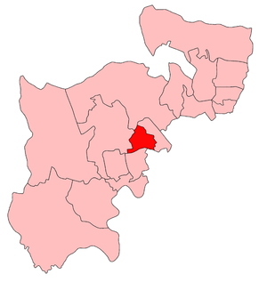 Willesden West (UK Parliament constituency) - Willesden West constituency within the parliamentary county of Middlesex, showing boundaries used from 1918-45.