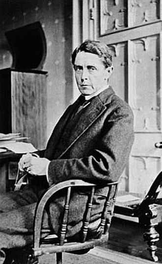 Harrison Moore - Moore pictured in his office in the Melbourne University Law School, circa 1916.