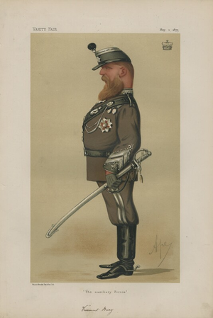 Badminton Library - Viscount Bury, author of Cycling (1887), caricatured in 1875 by Carlo Pellegrini