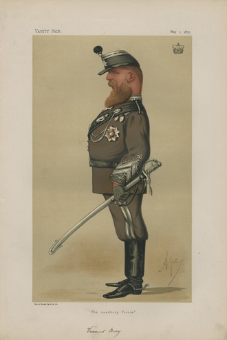 William Keppel, 7th Earl of Albemarle - Viscount Bury, by Carlo Pellegrini, 1875.