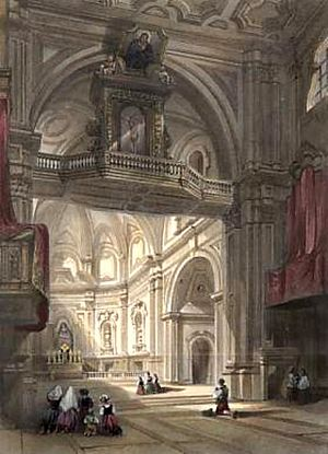 William Leighton Leitch - Church of Santa Maria Del Carmine, Naples (1840)