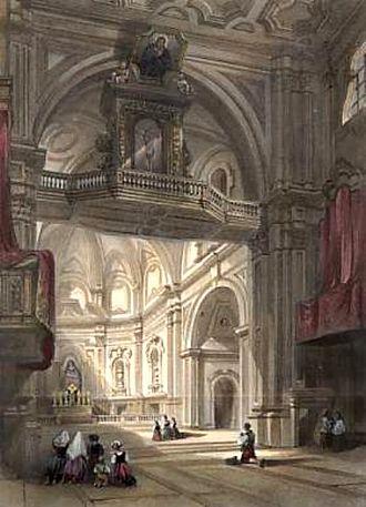 William Leighton Leitch - Church of Santa Maria Del Carmine, Naples (1840)