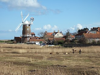 Cley next the Sea - Image: Windmill Reed beds Cley