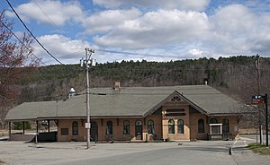 Windsor Village Historic District (Windsor, Vermont) - Image: Windsor Railway Station