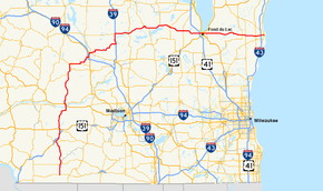 Wisconsin Highway Wikipedia - Wisconsin road map