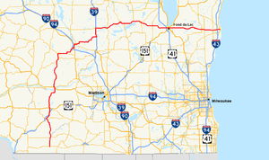 Wisconsin Highway 23 - Image: Wis 23 map
