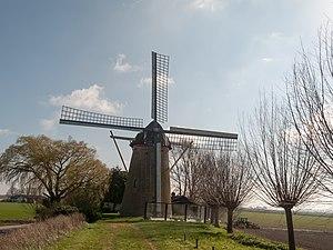 Wissenkerke - Image: Wissekerke, voormalige korenmolen het Landzigt RM39099 foto 2 2014 03 16 13.42