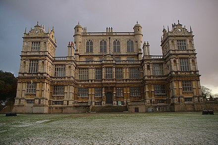 Wollaton Hall was used as Wayne Manor in the Batman film The Dark Knight Rises. Wollaton Park MMB 07.jpg