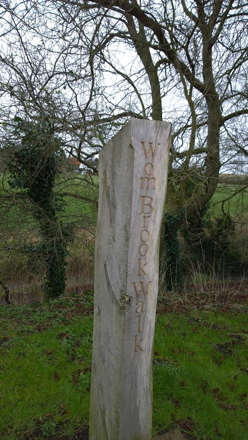 Wom brook Walk Signpost