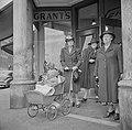 Women in front of Grant's Department Store in Delaney's Marble Block, Holyoke, Massachusetts.jpg