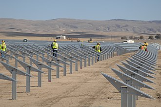 Topaz Solar Farm - Image: Work at Topaz Solar 3 (8159032324)