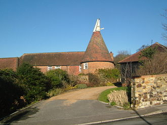 Wrotham - A converted oast house, showing the transition from agricultural to residential