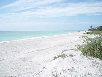 Sanibel, Florida - Beach near the western end of Sanibel