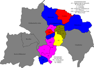 Wyre Forest District Council elections - Image: Wyre Forest UK local election 2003 map