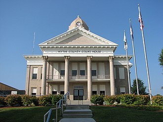 Wythe County, Virginia - Wythe County Courthouse front facade