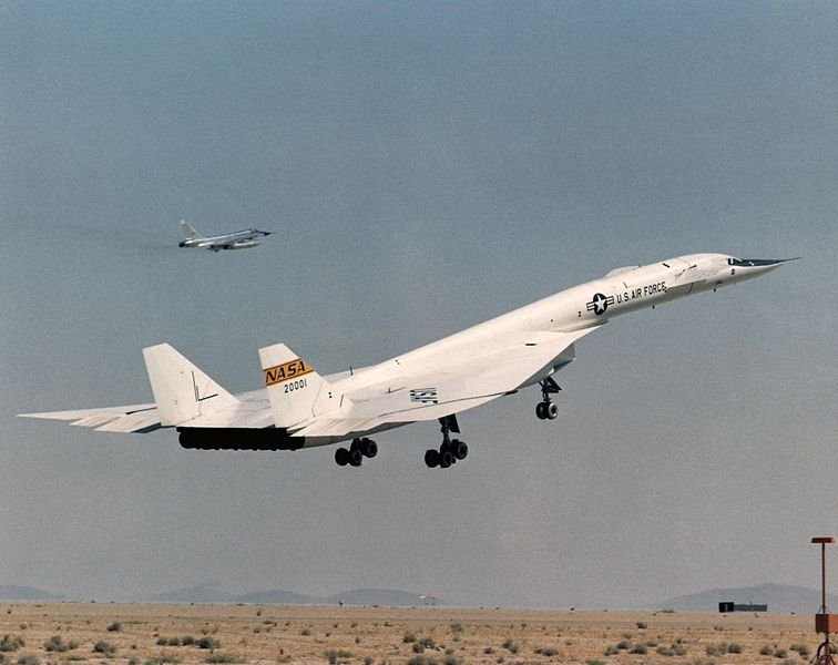 File:XB-70A taking off with TB-58 chase plane.jpg