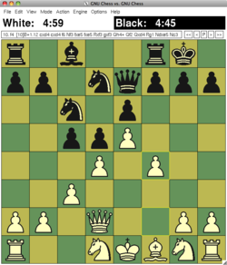 GNU Chess 6.0.0 on XBoard 4.5.1