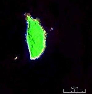 Mavulis - Satellite image of the island