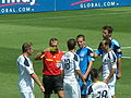 Yellow card at Galaxy at Earthquakes 2010-08-21 1.JPG