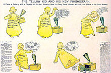 planche de la bande-dessinée The Yellow Kid