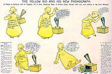 planche de la bande-dessinée The Yellow Kid