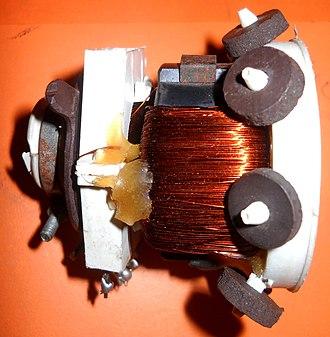 Deflection yoke - Image: Yoke coil 2