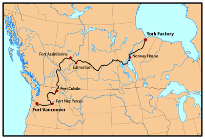 Map Of Canada Fur Trade.York Factory Express Wikipedia