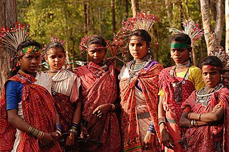 Baiga tribe - Young Baiga women.