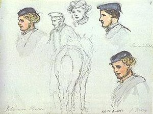 John Brown (servant) - A young John Brown as sketched by Queen Victoria