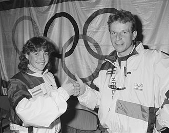 1988 Winter Olympics - The Netherlands' Yvonne van Gennip (left) won three gold medals in Calgary