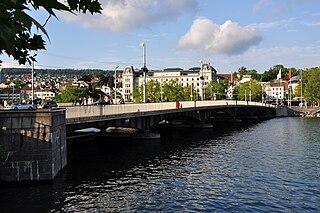 Quaibrücke, Zürich bridge in Zürich (ZH), Switzerland