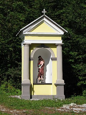 Zalog pri Škofljici - The French Chapel-Shrine is a memorial to French soldiers fallen in the Combat at St. Marein during the Napoleonic wars.