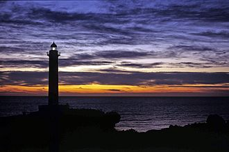 Yomitan - Zanpa Point Lighthouse is a landmark in Yomitan
