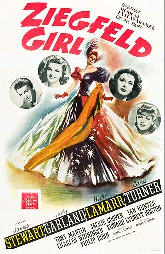 Ziegfeld Girl (film) - Theatrical release poster