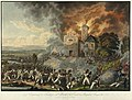 """""""Erstürmung des Kirchhofes von Aspern durch das Regiment Benjowsky mit einem Bataillon von Jordis am 22ten May 1809"""".jpg"""