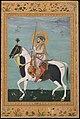 """Shah Jahan on Horseback"", Folio from the Shah Jahan Album MET DT1030.jpg"