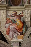 'LibyanSibyl Sistine Chapel ceiling' by Michelangelo JBU34.jpg