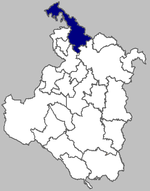 Map of Ozalj municipality within Karlovac County