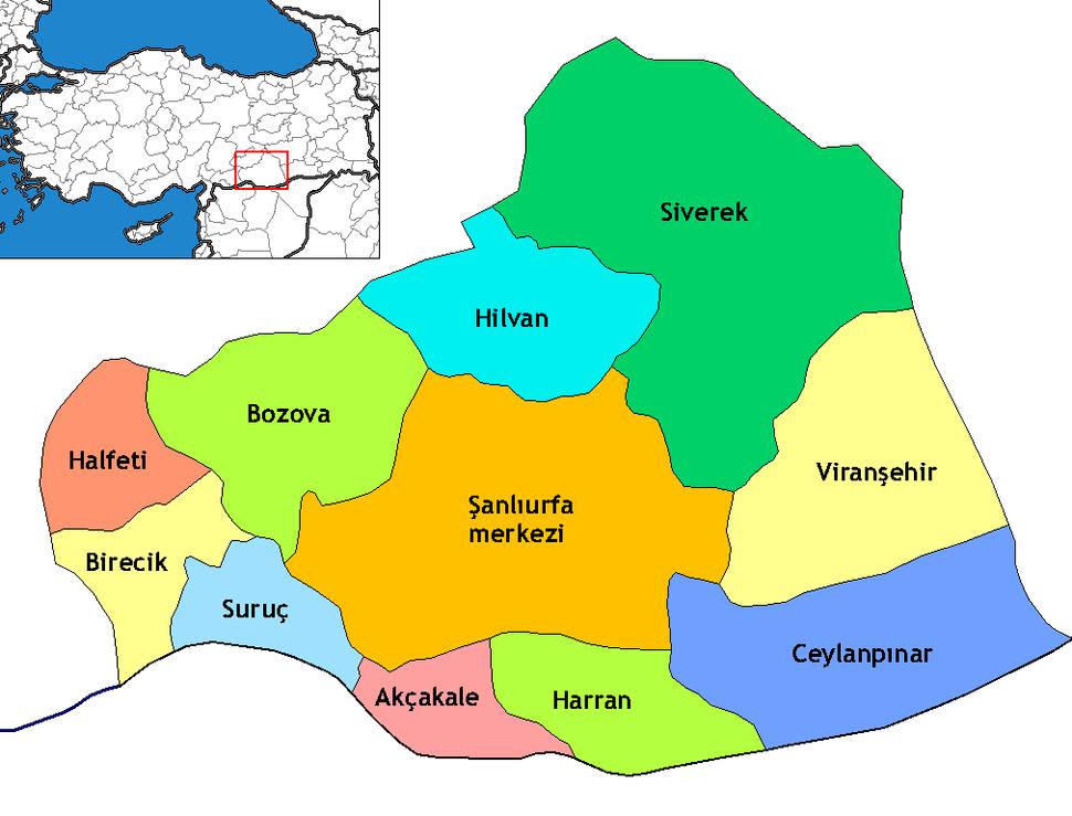 Şanlıurfa districts