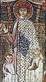 Άγιος Δημήτριος Θεσσαλονίκης. Αναθηματική ψηφιδωτή παράσταση του 7ου αιώνα στο βορειοανατολικό πεσσό του ναού.jpg