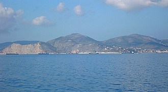 Mount Aigaleo - Aigaleo seen from Salamis Island