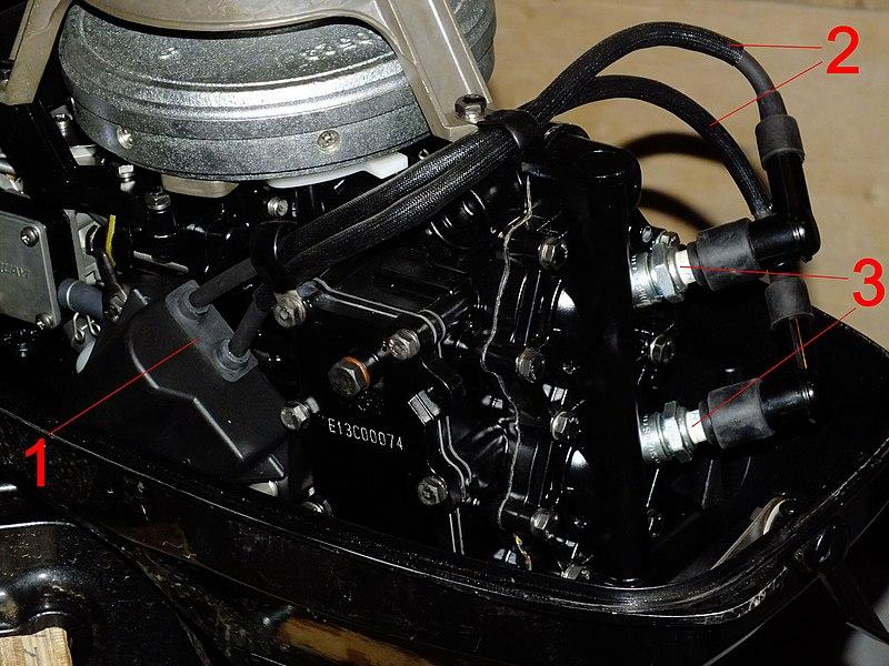 катушка зажигания лодочного мотора гладиатор