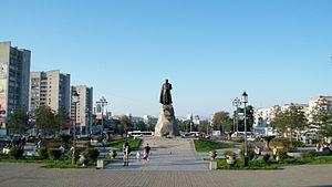 Khabarovsk - Monument to Yerofey Khabarov in Khabarovsk.