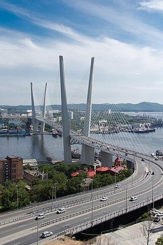Zolotoy Bridge - Image: Золотой мост, июль 2013