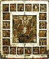 """Икона """"Воскресение Христово - Сошествие во ад, с 20 праздниками"""". пол. XVI в. Псков.jpg"""