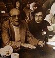 Режиссёры Г.А. Товстоногов и В.Г. Милков-Товстоногов на репетиции спектакля в БДТ. 1980-е гг.jpg