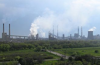 Makiivka - Yasynivka coke plant near Makiivka